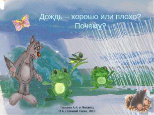 Дождь – хорошо или плохо? Почему? Гурьева А.А. и Янковец Н.А.,г.Нижний Тагил,