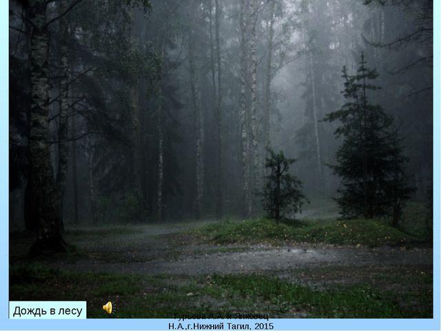 Гурьева А.А. и Янковец Н.А.,г.Нижний Тагил, 2015 Дождь в лесу Гурьева А.А. и...