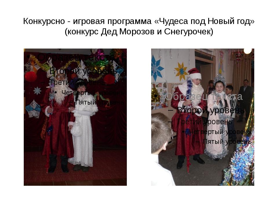 Конкурсно - игровая программа «Чудеса под Новый год» (конкурс Дед Морозов и С...