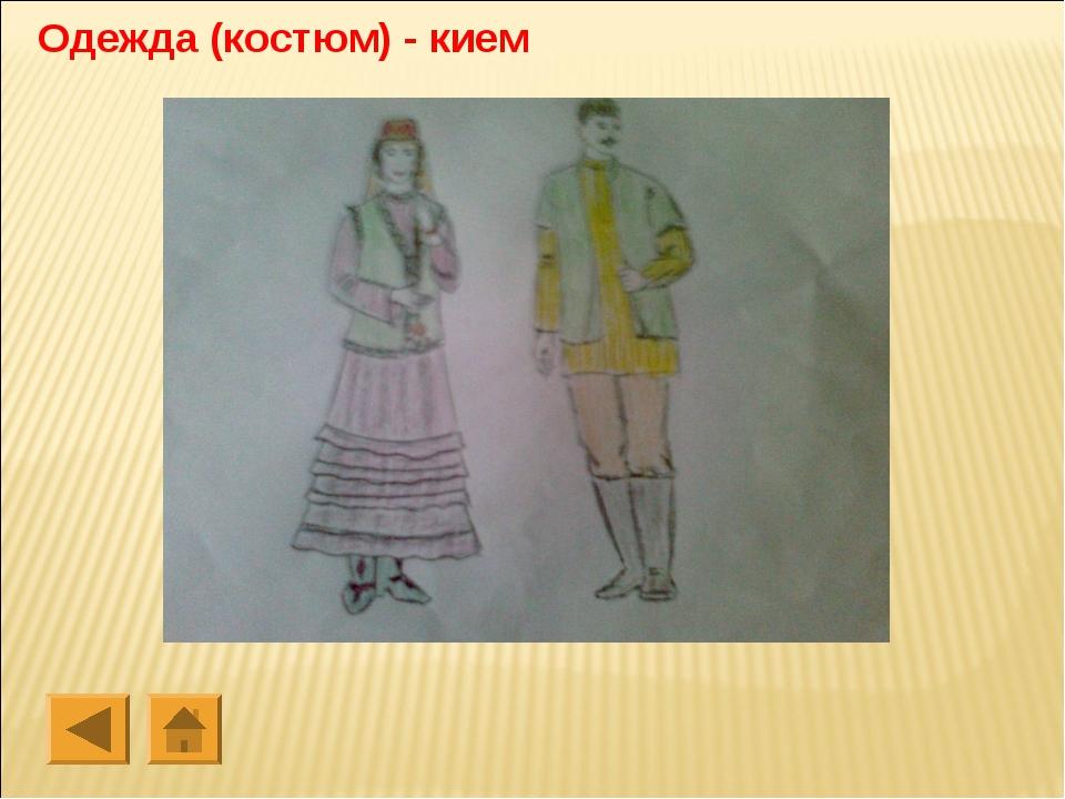 Одежда (костюм) - кием