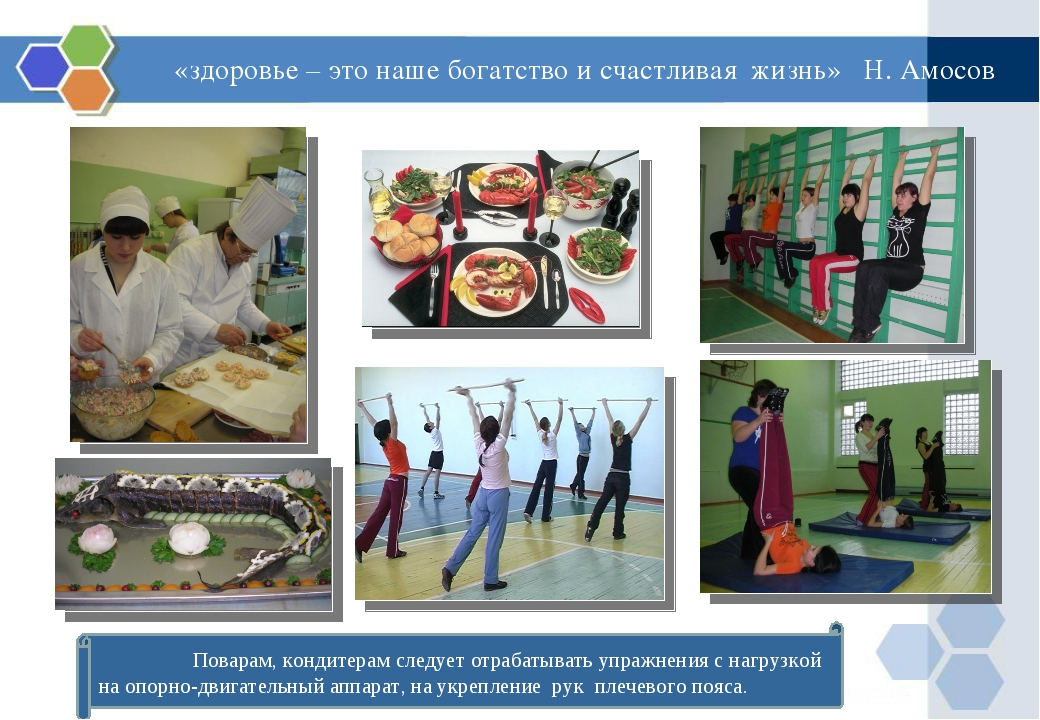 «здоровье – это наше богатство и счастливая жизнь» Н. Амосов Поварам, кондите...