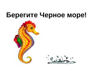 Берегите Черное море!