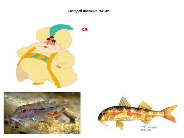 Разгадай название рыбки: ка
