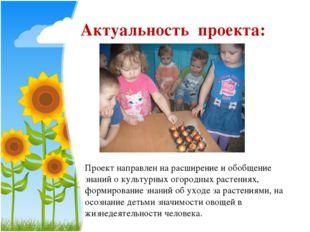 Актуальность проекта: Проект направлен на расширение и обобщение знаний о кул