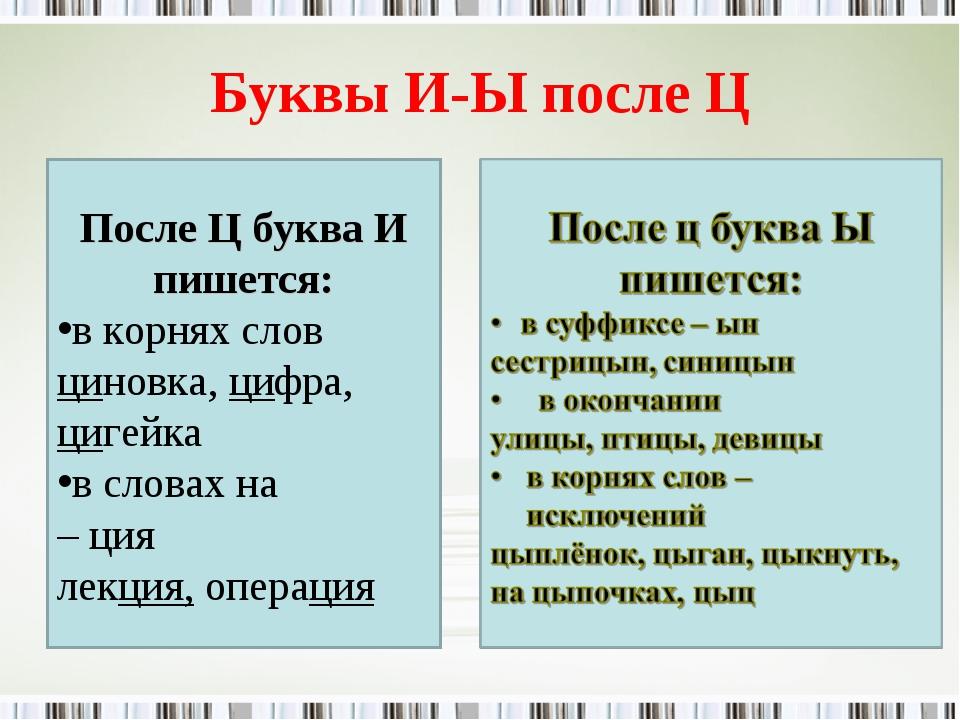 на ц гдз по языку после ы тему русскому и
