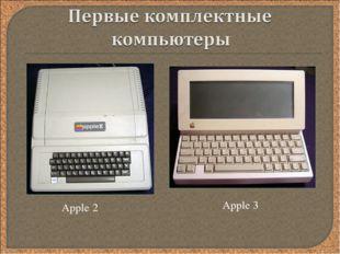 Apple 2 Apple 3