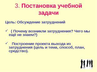 3. Постановка учебной задачи Цель: Обсуждение затруднений ( Почему возникли з