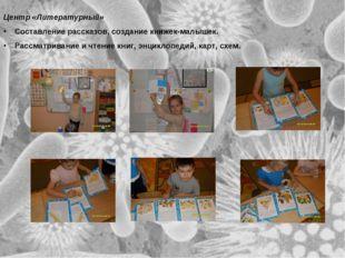 Центр «Литературный» Составление рассказов, создание книжек-малышек. Рассматр