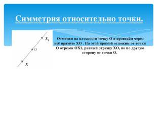 Сделайте в тетради такие же рисунки и постройте точки, симметричные точкам M,