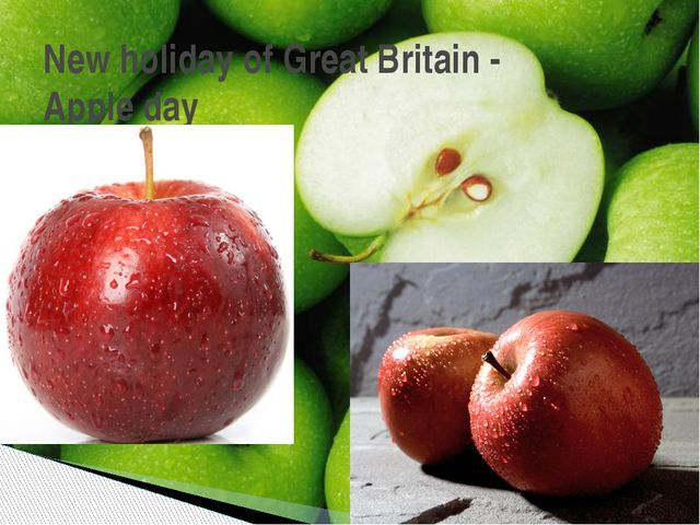 New holiday of Great Britain - Apple day