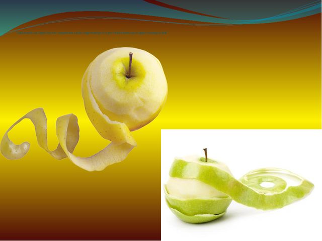Traditionally on Apple day the competition on the longest stripe of a peel wh...