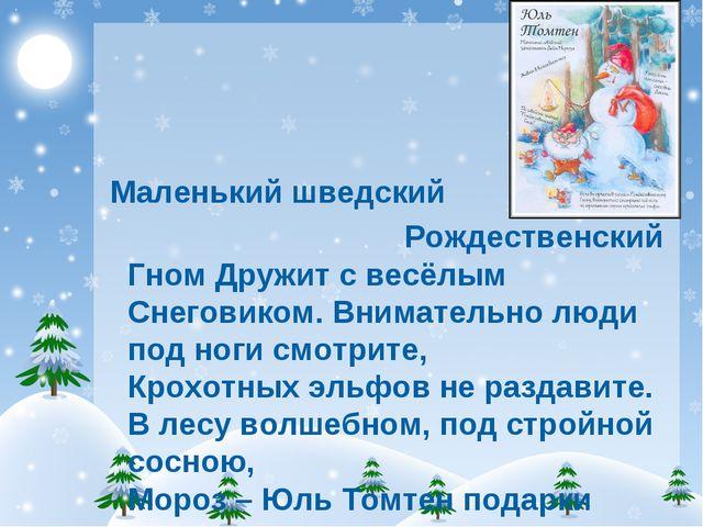 Маленький шведский Рождественский Гном Дружит с весёлым Снеговиком. Внимател...