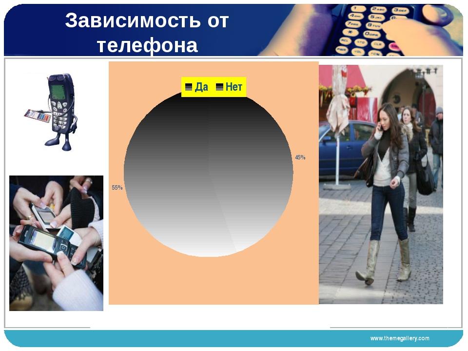 Зависимость от телефона www.themegallery.com