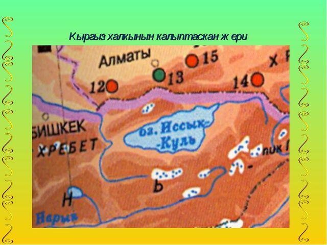 Кыргыз халкынын калыптаскан жери