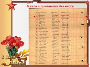 Книга о пропавших без вести Педагог-библиотекарь МБОУ СОШ№5 Большакова Юлия В