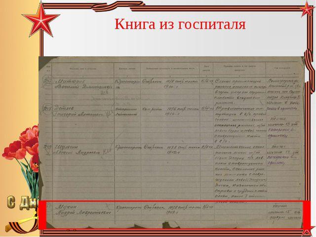 Книга из госпиталя Педагог-библиотекарь МБОУ СОШ№5 Большакова Юлия Владимиров...