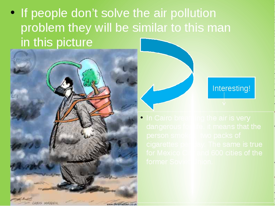 If people don't solve the air pollution problem they will be similar to this...