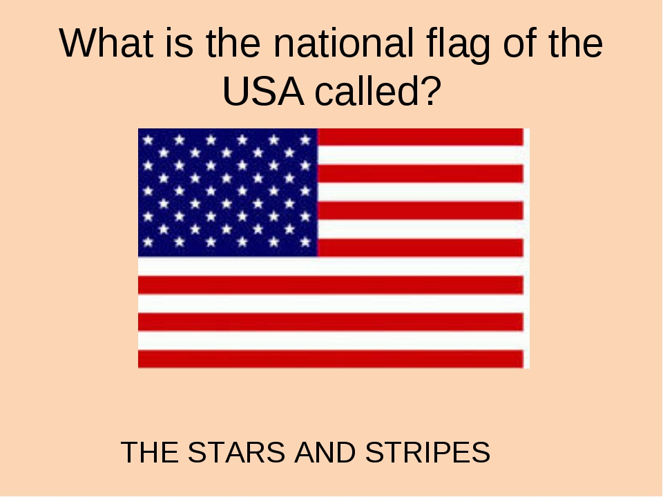 What is the national flag of the USA called? THE STARS AND STRIPES