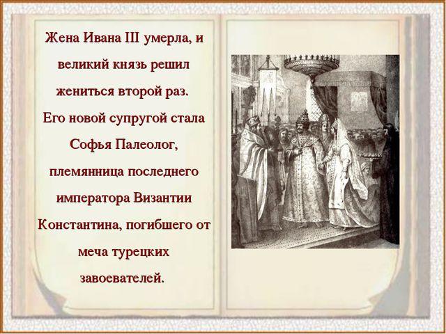 Жена Ивана III умерла, и великий князь решил жениться второй раз. Его новой с...