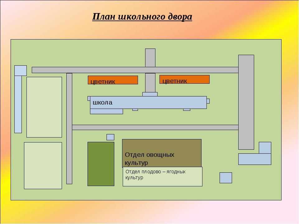 План школьного двора