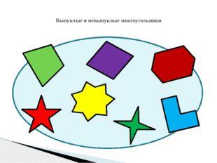 Выпуклые и невыпуклые многоугольники