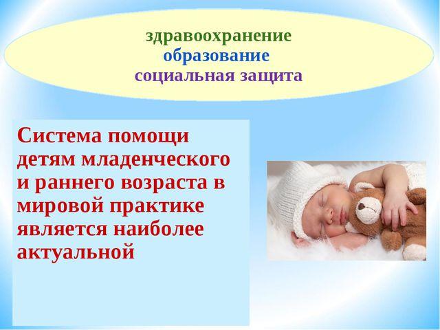 Система помощи детям младенческого и раннего возраста в мировой практике явля...