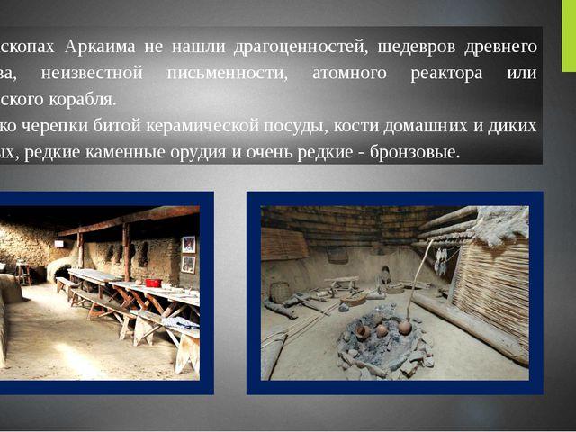 В раскопах Аркаима не нашли драгоценностей, шедевров древнего искусства, неиз...