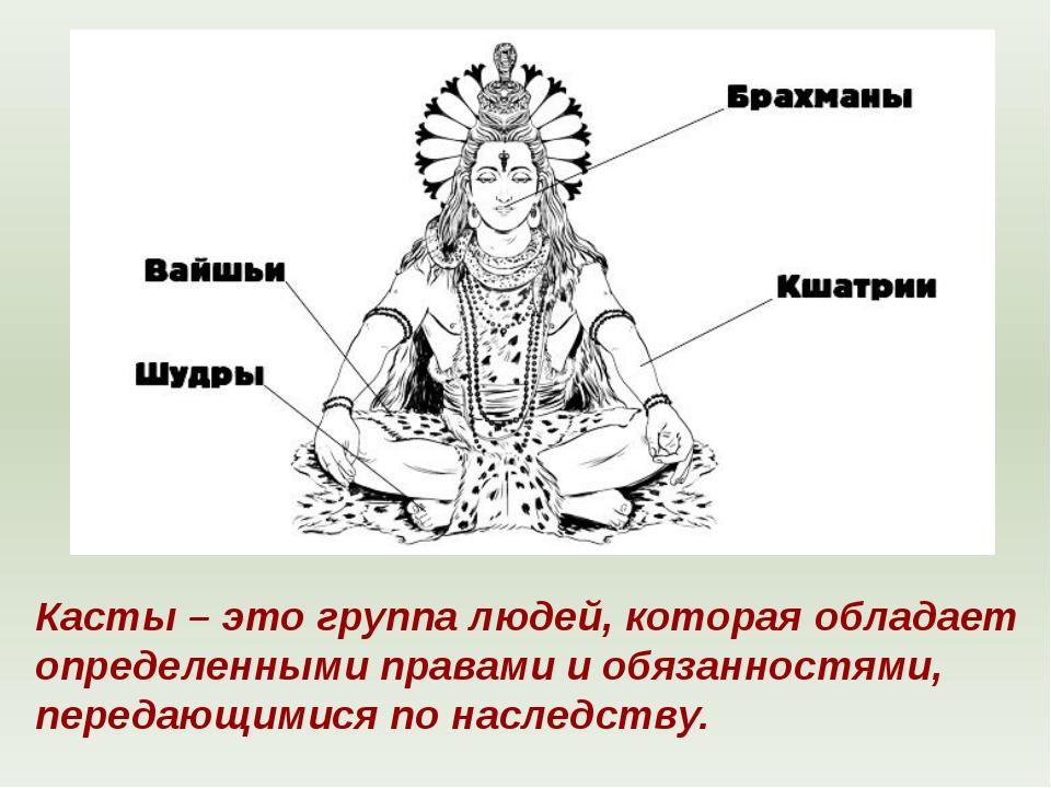 Бог Брахма Касты – это группа людей, которая обладает определенными правами и...