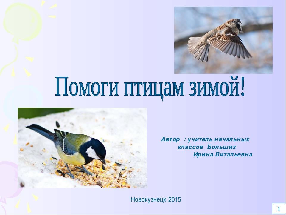 1 Автор : учитель начальных классов Больших Ирина Витальевна Новокузнецк 2015