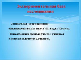 Специальная (коррекционная) общеобразовательная школа VIII вида г.Холмска.