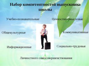 Набор компетентностей выпускника школы