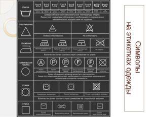 Символы на этикетках одежды