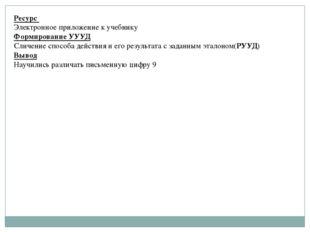 Ресурс Электронное приложение к учебнику Формирование УУУД Сличение способа д