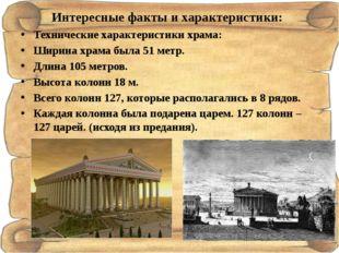 Интересные факты и характеристики: Технические характеристики храма: Ширина х