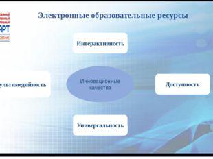 Электронные образовательные ресурсы Инновационные качества Универсальность Ин