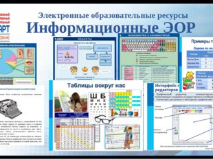 Электронные образовательные ресурсы Информационные ЭОР
