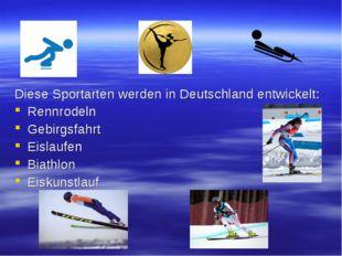 Diese Sportarten werden in Deutschland entwickelt: Rennrodeln Gebirgsfahrt Ei