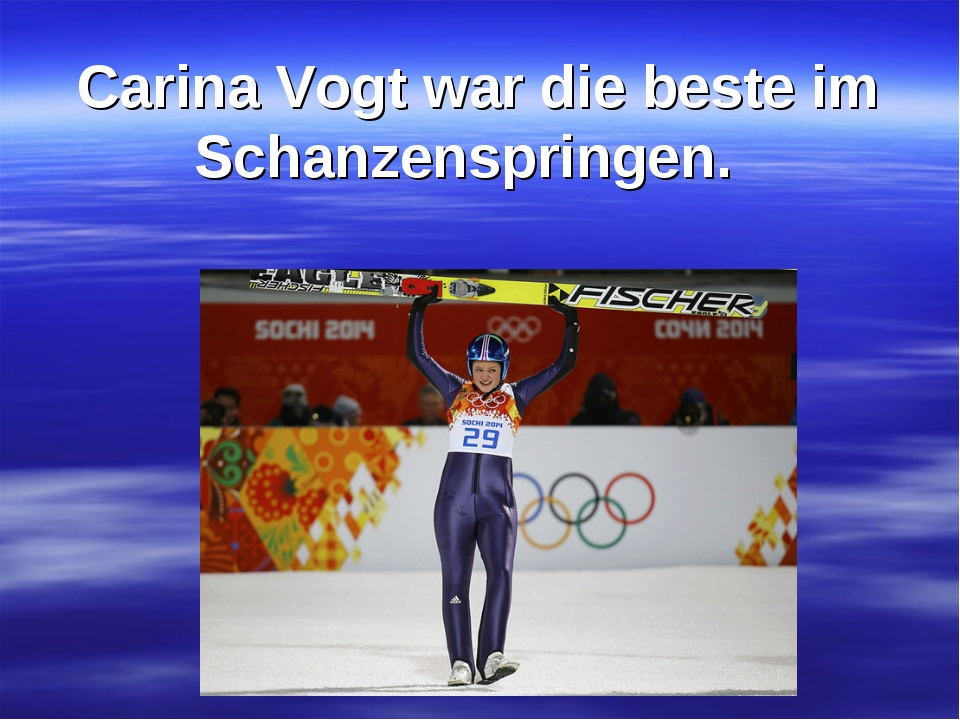 Carina Vogt war die beste im Schanzenspringen.