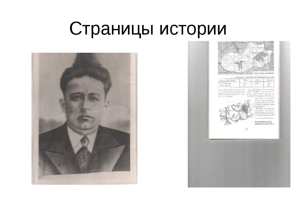 Страницы истории Страницы истории