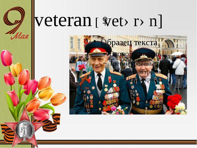 veteran [ˈvetərən]