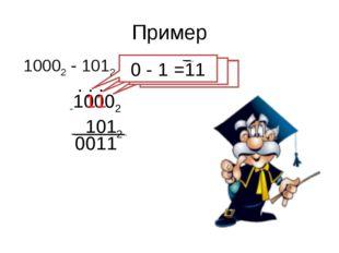 Пример 10002 - 1012 -10002 1012 . 1 1 . 1 0 . 1 0