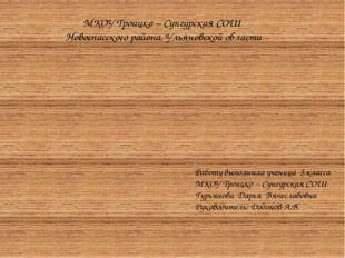 Сказка «Колобок » Работу выполнила ученица 5 класса МКОУ Троицко – Сунгурска