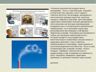 Основные загрязнители воздуха жилых помещений – пыль и табачный дым, угарный