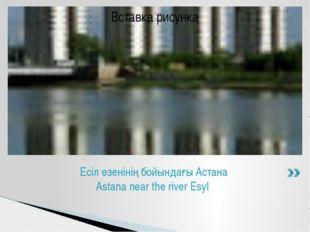 Есіл өзенінің бойындағы Астана Astana near the river Esyl