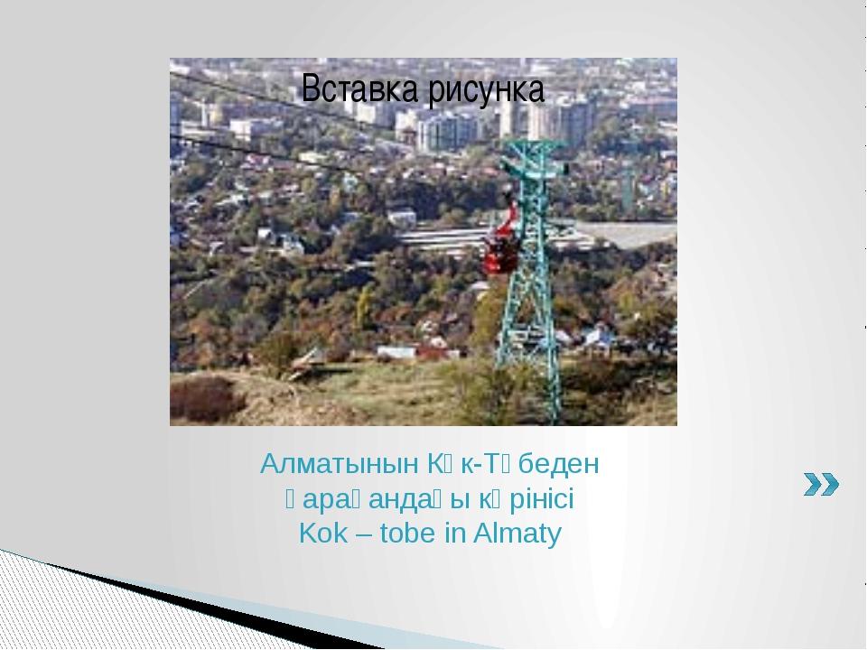 Алматынын Көк-Төбеден қарағандағы көрінісі Kok – tobe in Almaty