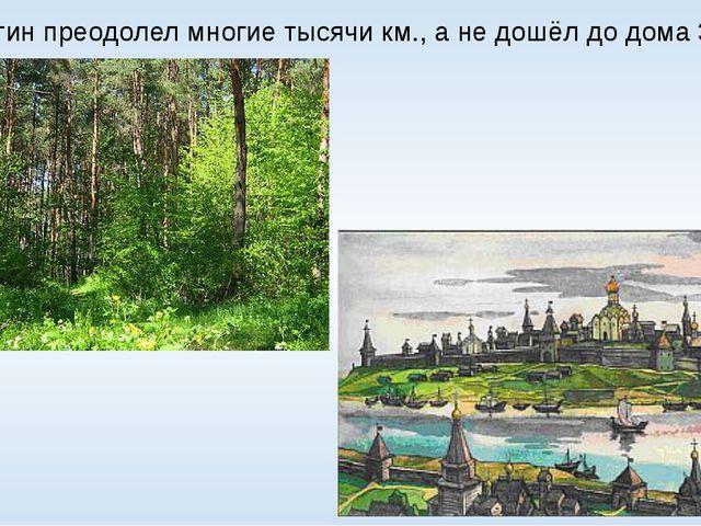 А. Никитин преодолел многие тысячи км., а не дошёл до дома 300 км.