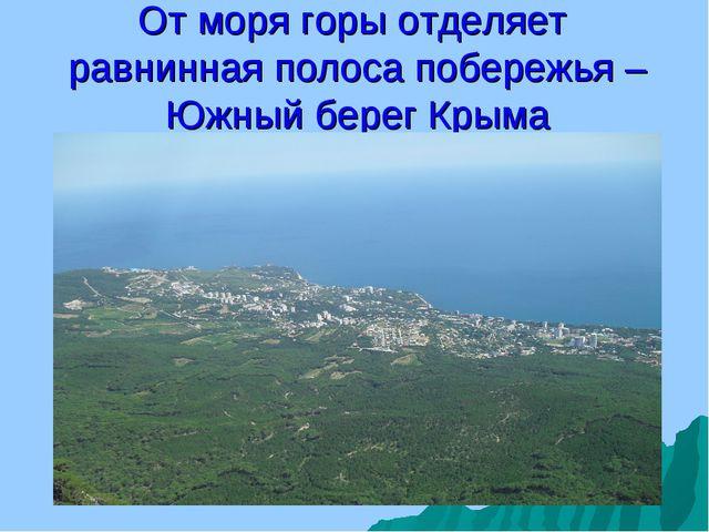 От моря горы отделяет равнинная полоса побережья – Южный берег Крыма