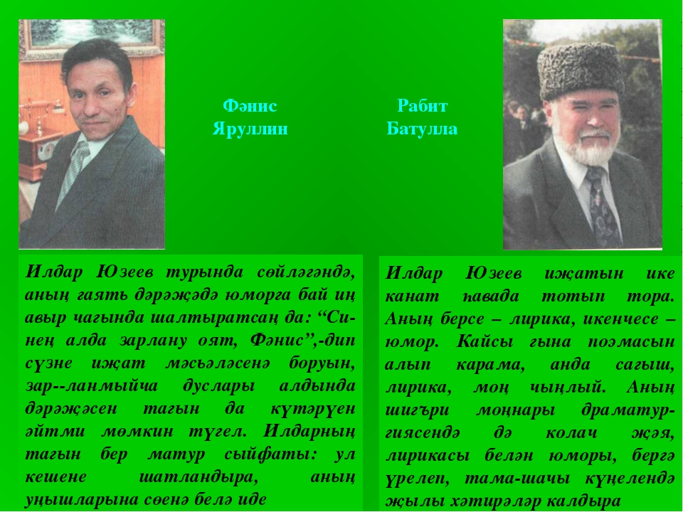Фәнис Яруллин Рабит Батулла Илдар Юзеев турында сөйләгәндә, аның гаять дәрәҗә...