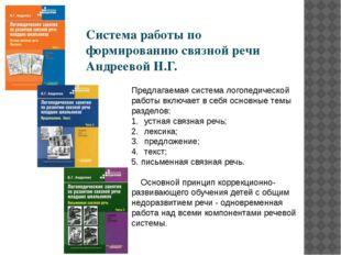 Предлагаемая система логопедической работы включает в себя основные темы разд