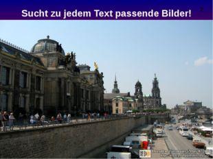 Sucht zu jedem Text passende Bilder! 2